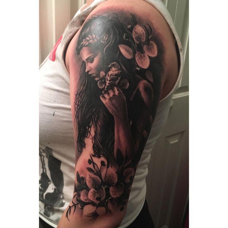 Start to a Mother Nature sleeve - Luke Palan Boston Tattoo