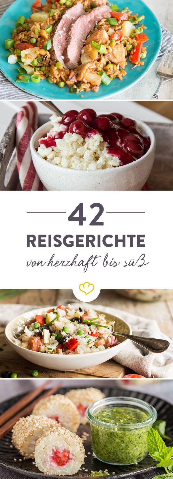 Wenn dich der Reishunger packt, gibt es unzählige Möglichkeiten ihn zu stillen. Ideen gefällig? Bei diesen 42 Rezepten wirst du bestimmt fündig.