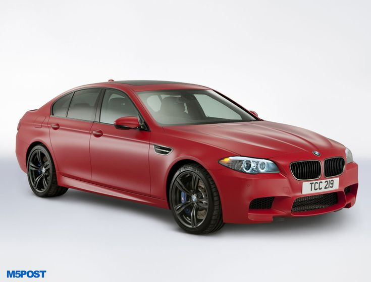 Frozen red M5 - which is actually a wrap. Interesting to see what colour it has been painted.