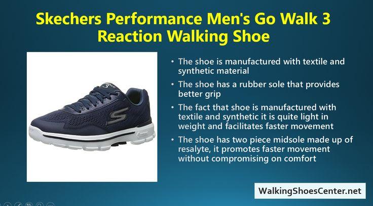 Best Skechers shoes. Skechers Performance Men's Go Walk 3 Reaction Walking Shoe. Visit my Site: Walkingshoescenter.net