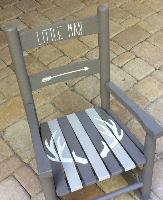 Kids Rocking Chair | Tribal Theme | Boys Room Decor | Painted Childs Chair  | Arrow