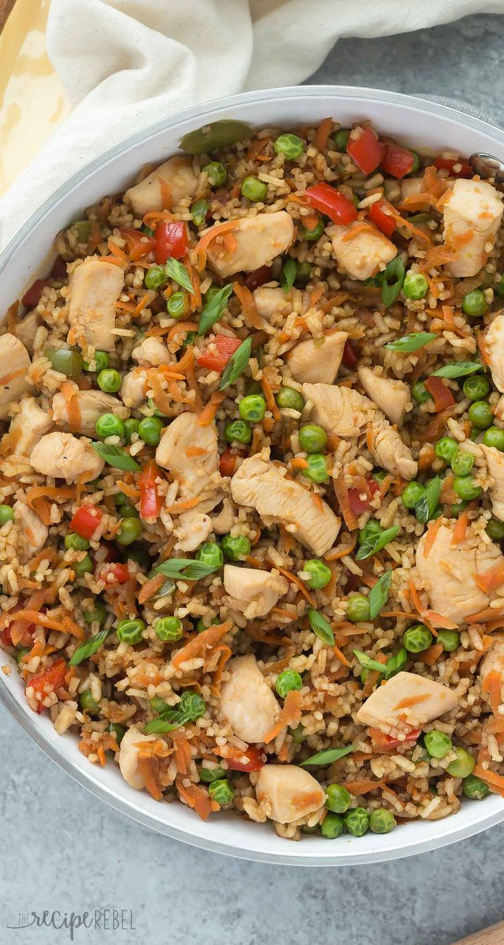 This One Pot Teriyaki Chicken, Rice and Vegetables is an easy, family friendly meal that's made in just 3o minutes or less! It healthy and hearty and perfect for weeknights. | one pan meal | one pot meal | skillet dinner | healthy recipe | healthy dinner