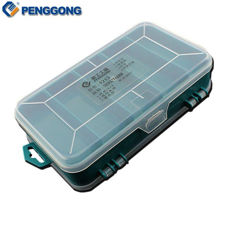 Transparan Kotak Alat Ganda-Sisi Plastik ToolBox Penyimpanan Alat Multifungsi Alat kasus
