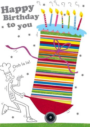 Artist: Richard Barrett.  Range: Portobello.  Published in greeting card format by Paper Rose Ltd, UK.