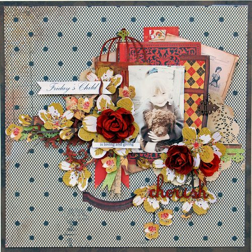 KaiserCraft_In The Attic Collection_Layout by Trudi Harrison