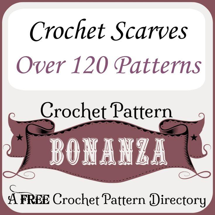 FREE crochet patterns for scarves: http://crochetpatternbonanza.com/category/scarves/