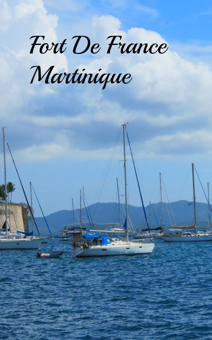 Sailboats in the port with our cruise ship at Fort De France, Martinique.