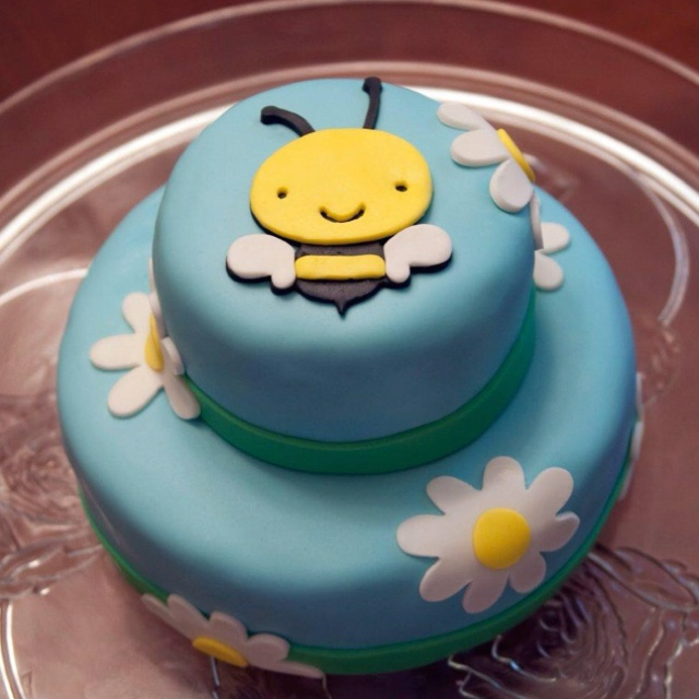 2nd bday party cake for my little bee