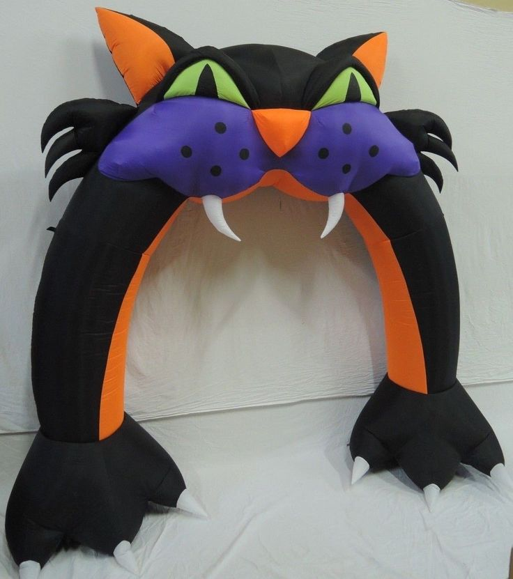 Gemmy Prototoype Halloween Black Cat Archway Inflatable ...