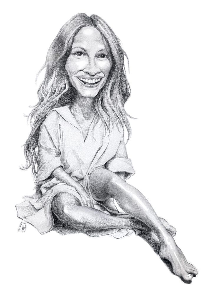 Julia Roberts (pencil caricature) by IvandelRio