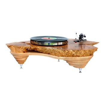 Hyperion Turntable. This stunning turntable mixes nature-inspired design with high end-end audio components.