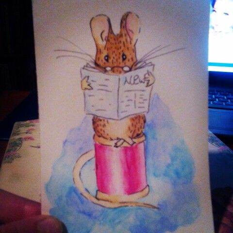 Mouse watercolor aquarell beatrixpotter