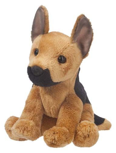 """At 5"""" sitting, Prince the stuffed Shepherd puppy is little in size but BIG in personality and cuteness! Made of the softest plush and highest quality materials, these mini pups are a must-have! - Ages"""
