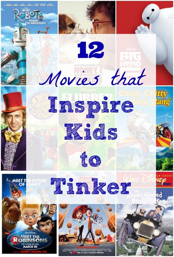 Awesome movies about inventors + Ideas for creative hands-on tinkering kids will love!