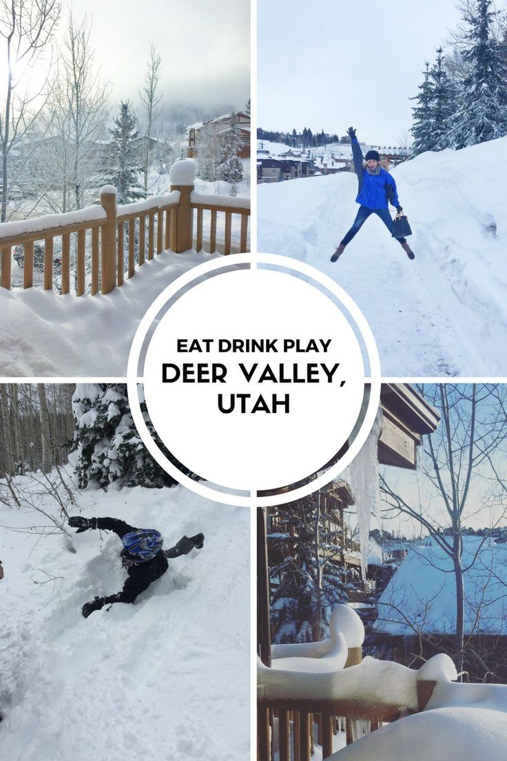 Eat Drink Play in Deer Valley, Utah. Food recommendations along with winter activities.