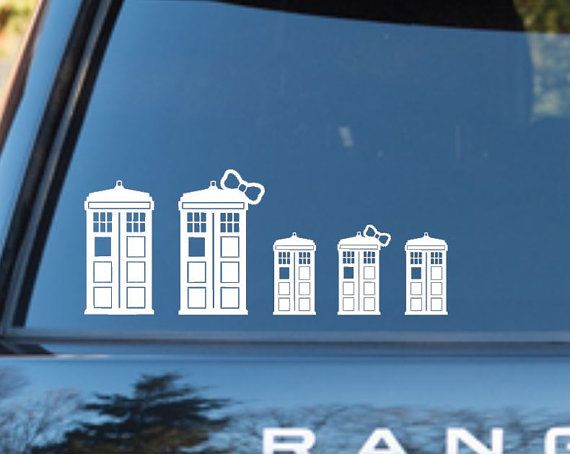 Doctor Who inspired Tardis family car Decal by WastedTalentDesigns