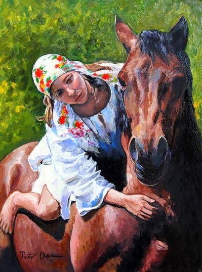 Dziewczyna na koniu | digart | digart.pl