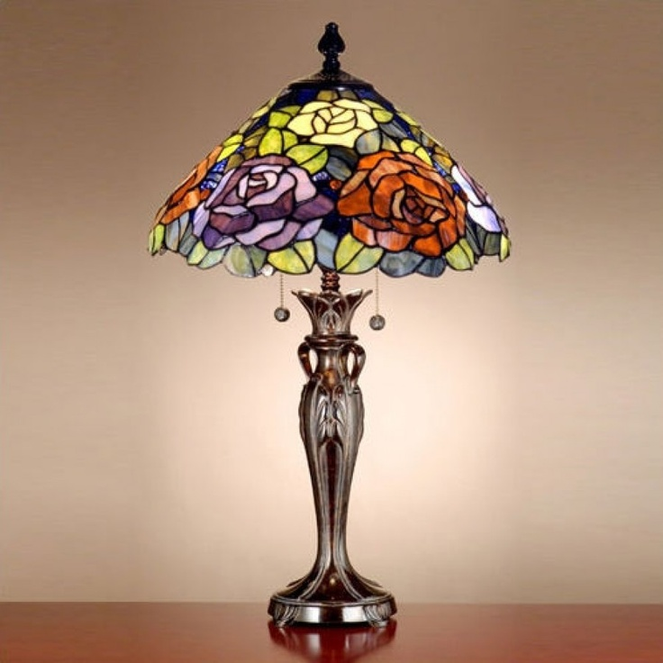 Dale tiffany lamps floral battersby table lamp in fieldstone tt100918