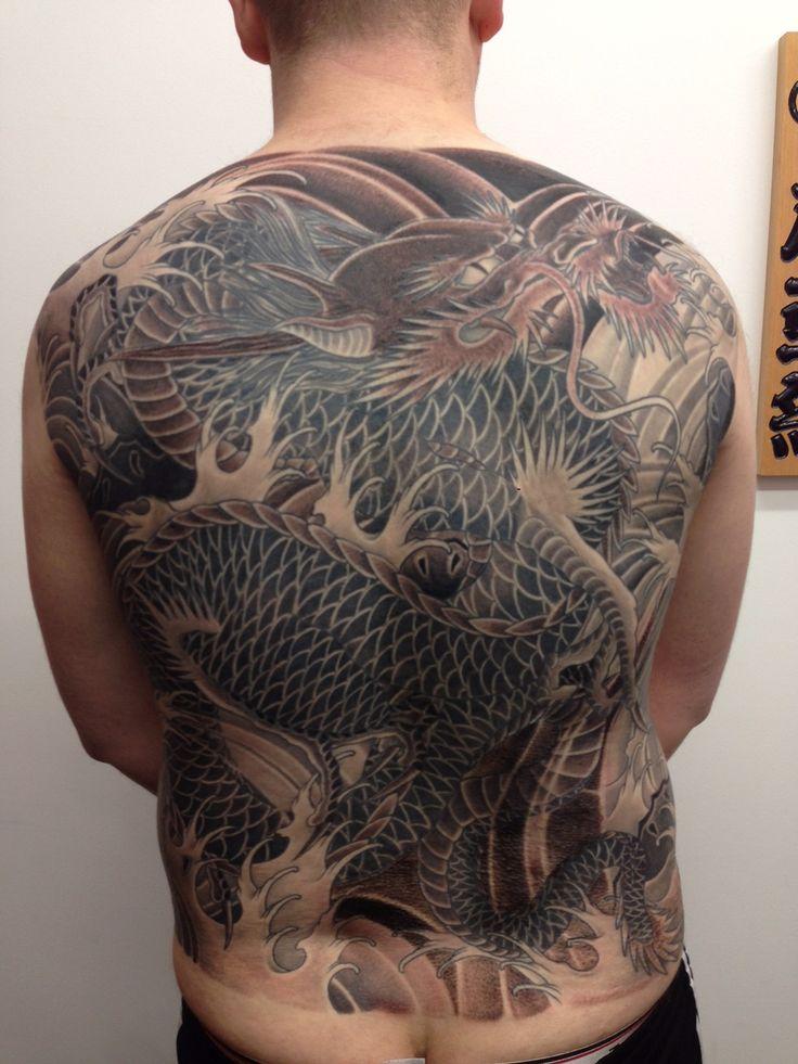 Marc Pinto's Primitive Tattoo - Japanese Dragon Backpiece - visit: www.primitivetattoo.com.au