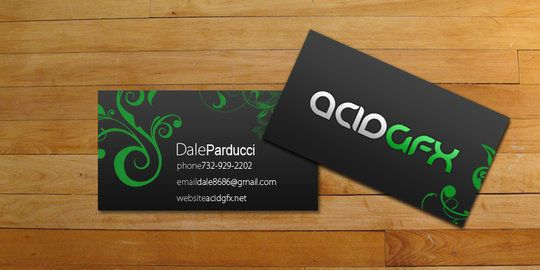 Business Card Design: AC-1D - acidGFX business cards