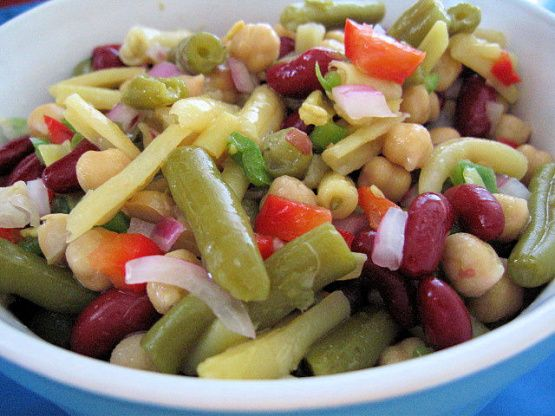 Three Bean Salad Recipe - Food.com: Food.com