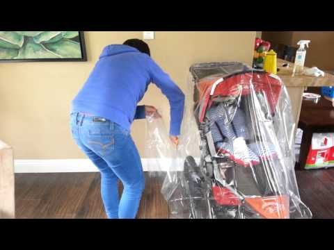 DIY- BOB Stroller rain cover for under $10 - YouTube