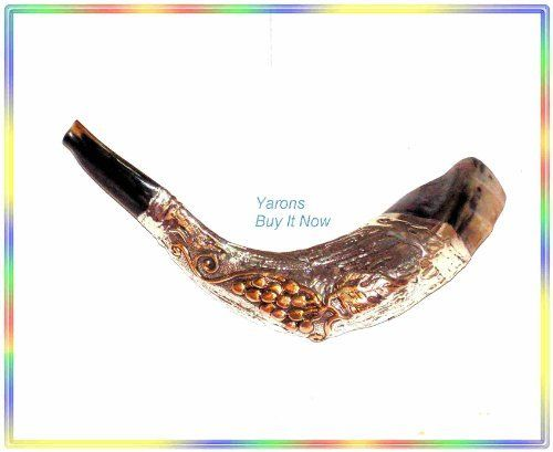 "Amazing Christian 16"" Silver-plated Rams Shofar Judaica Israel by Yarons buy it now. $141.00. Amazing 16"" Silver-plated Rams Shofar Judaica Israel Made of a natural Rams Horn. Size : 14"" to 16"" Produce a pure clear sound , It was checked for having a great sound by a special Shofars Expert and though standing in all kosher standards .Each Shofar checked before shipping.  The shofar is mentioned frequently in the Hebrew Bible, the Talmud and rabbinic literature. The blast..."