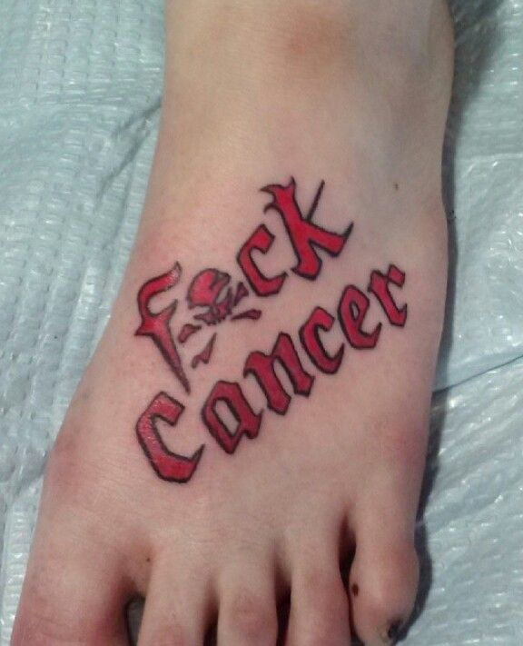 fuck cancer tattoo fck cancer pinterest cancer tattoos