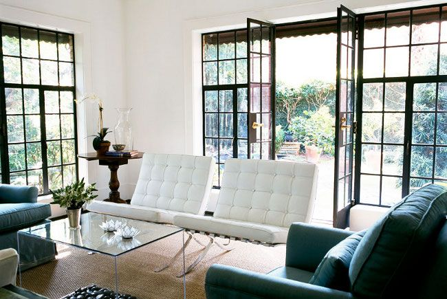 Barcelona Chair- I WILL own a set of my own when I have a living room worthy of putting them in :)