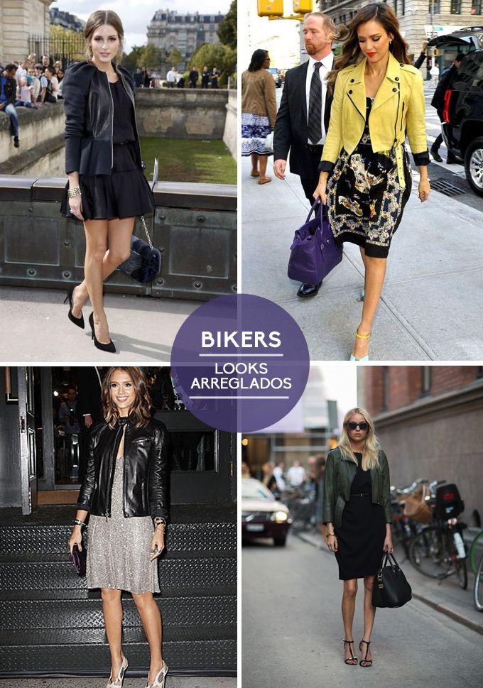 En otoño combina tu biker de cuero para conseguir desde el look más arreglado al más informal.