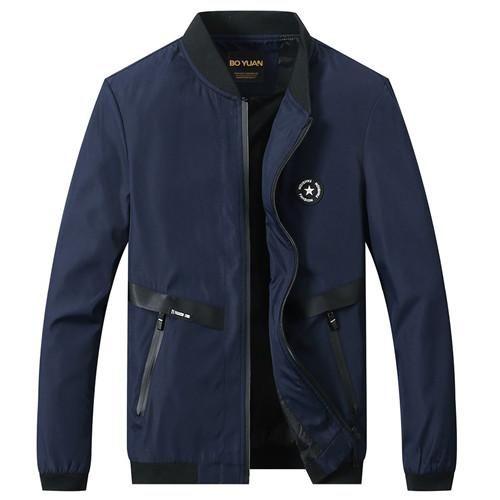 BOYUAN Bomber Jacket Coat Male Casual Jacket Men Spring Autumn New Fashion Outerwear Coat Men Quality Plus Size M-5XL 8702