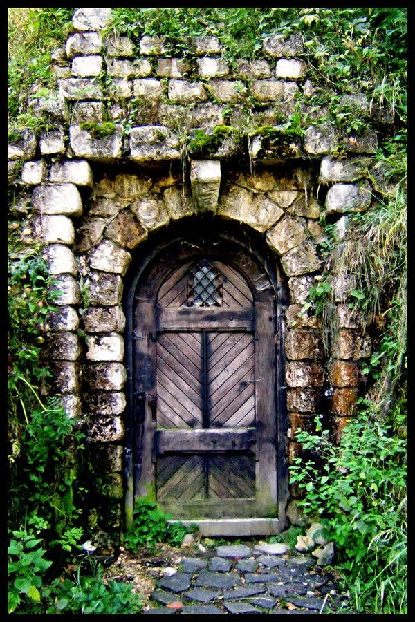 Old castle door at bran castle romania photography for Door of stone