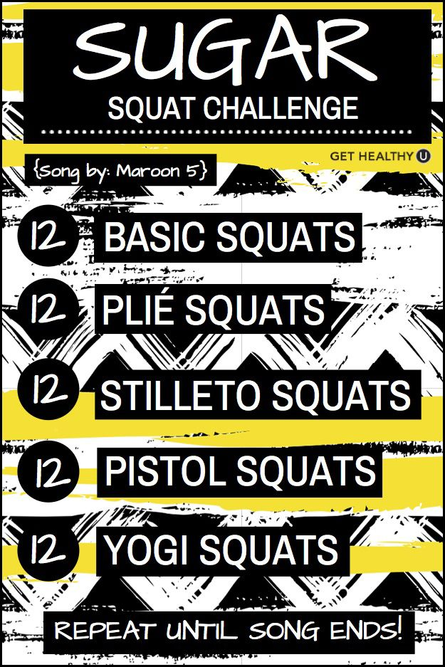 Turn up the tunes and get sweating! This is a no-equipment one song workout for Sugar!
