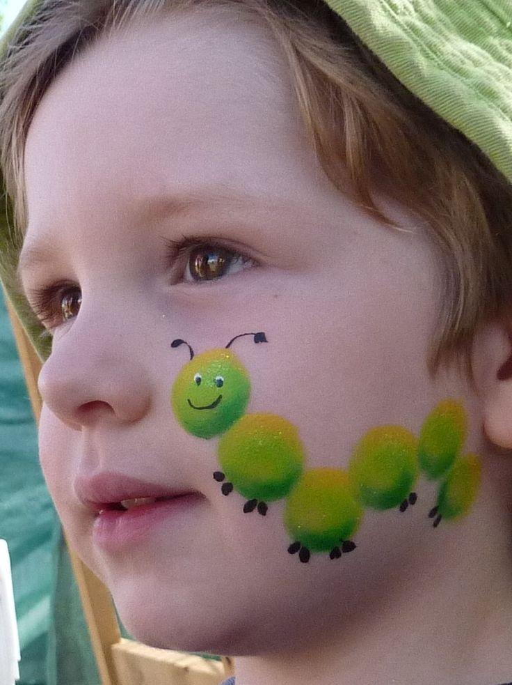 Pintura de cara. La oruga