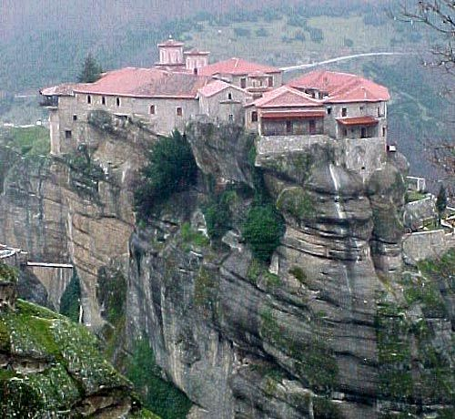 Meteora photos.  We visited Meteora from the port of Volos in the year 2000. These images on Google brought back lots of memories.