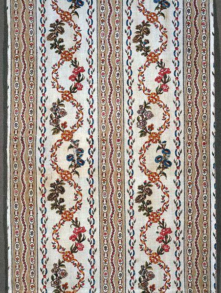 Block print on cotton ca. 1790 (designed) in the Victoria & Albert museum costume collections