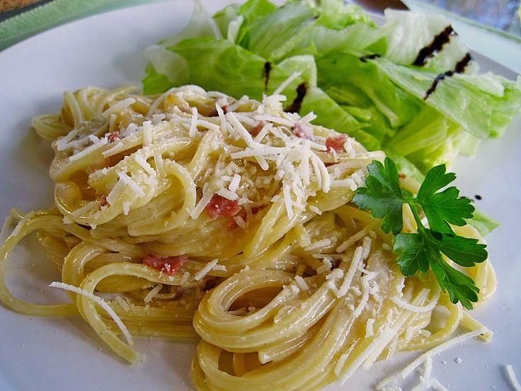 Chefkoch.de Rezept: Spaghetti alla Carbonara nach Südtiroler Art