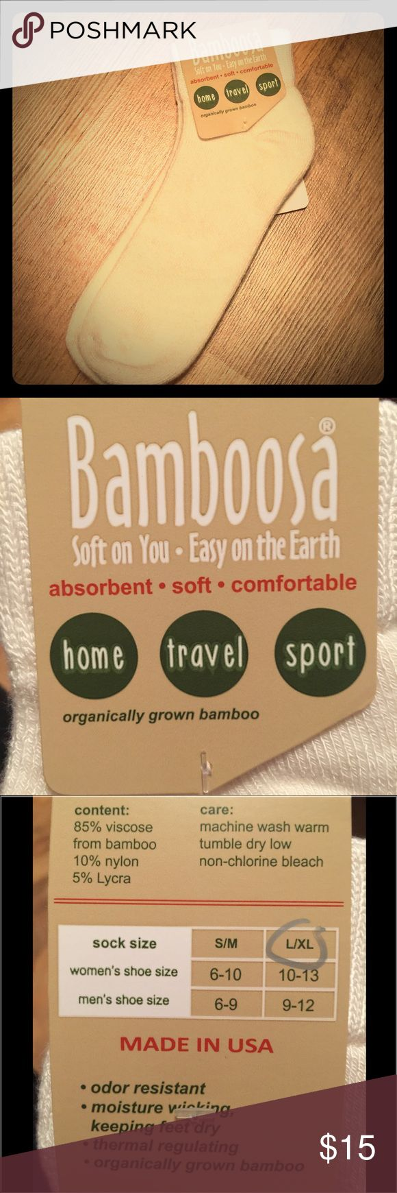 ✨Pure Natural Bamboo Socks✨ World's Best Deluxe Softest Socks! Try these Bamboosa socks for working out, running or just to keep your feet warm. Soft, absorbent, breathable, comfortable socks to keep your feet happy! Odor resistant, Wicks & evaporates sweat & doesn't stick to skin, Excellent permeability, keeps your feet comfortable & dry, Breathable & cool in hot weather, Thermal regulating, keep your feet significantly warmer in cold weather, Highly absorbent, causing feet to stay fresher…