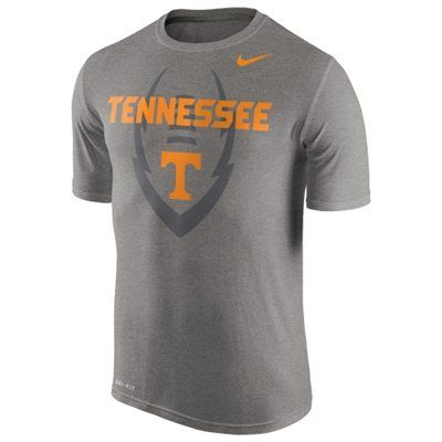 Men's Nike Gray Tennessee Volunteers Legend Football Icon T-Shirt