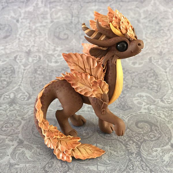 Own an original Dragons and Beasties sculpture! Don't miss the chance to own this beautiful little dragon. Made from high quality colored polymer clay, with hand painted speckles and just a touch of bronze shimmer on her wings. | eBay!