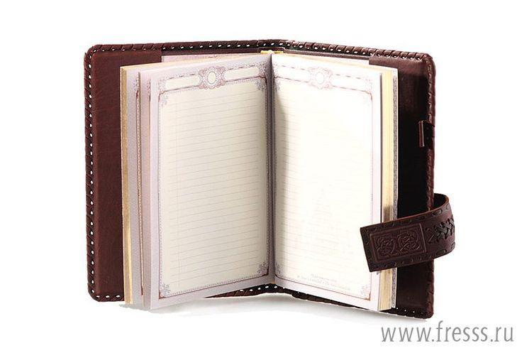 Ежедневник из натуральной кожи, А5, Бизнес