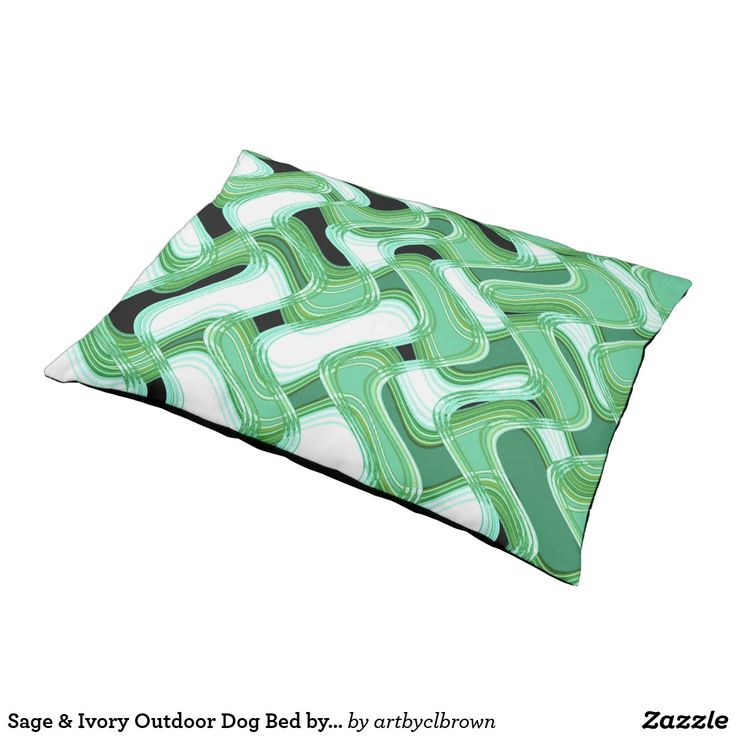 The Sage & Ivory Outdoor Dog Bed designed by Artist C.L. Brown features an abstract kinetic light painting edited for design in contemporary shades of verdant sage greens paired with ivory your fur baby will love. The outdoors have never been comfier for your furry best friend! Lounge outside on your deck while your pooch enjoys the same perks with the outdoor dog bed. Made with extra durable water-resistant polyester top and a water resistant cotton duck bottom, this bed can withstand all…