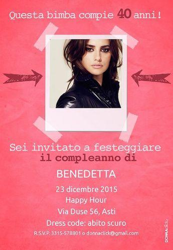Inviti di compleanno donne 40 anni - Donnaclick