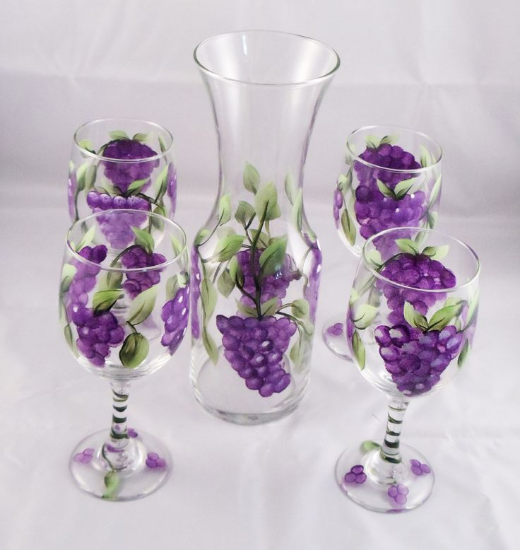 371 best wine glass painting images on pinterest for Baking enamel paint on glass