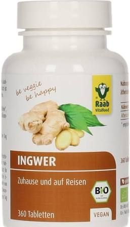 Axisis GmbH Ingwer Tabletten Bio Raab 360 Stück