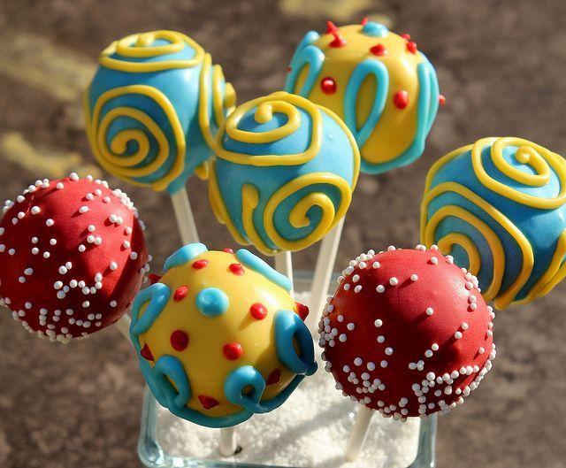 carnival theme cake pops