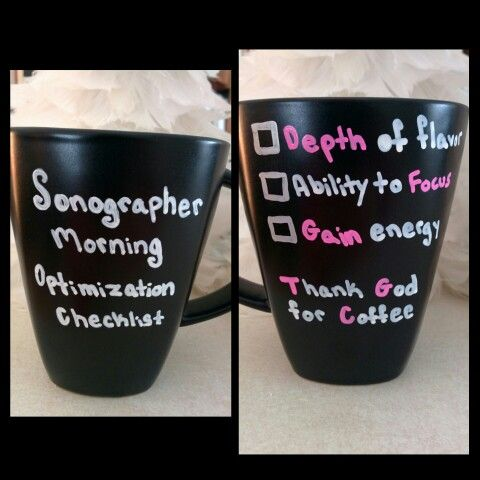 DIY Sonographer gift sharpie mug. Original idea :)