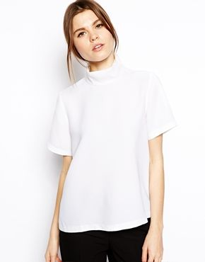 ASOS Top with Clean High Neck