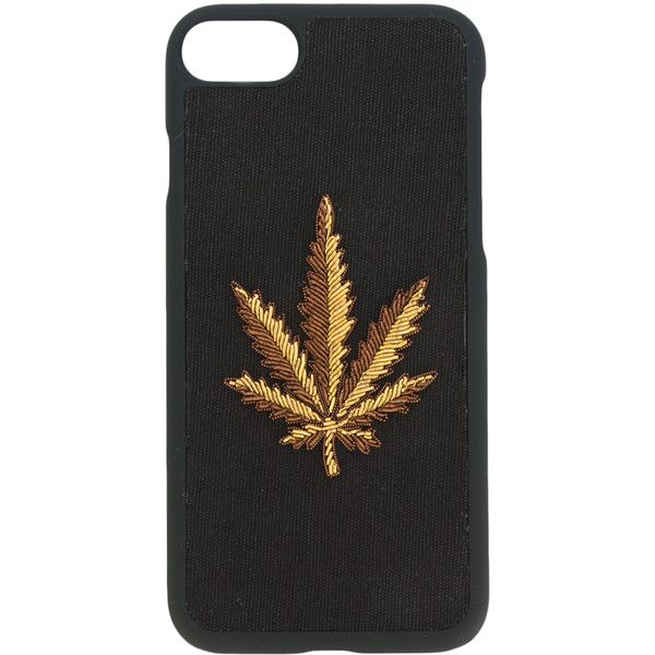 Palm Angels Weed iPhone 6 case ($71) ❤ liked on Polyvore featuring men's fashion, men's accessories, men's tech accessories and black