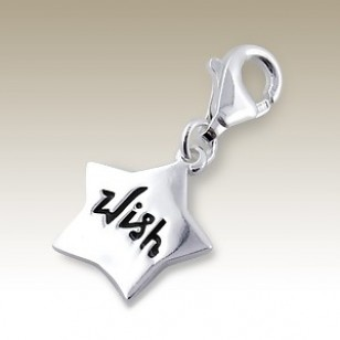 alisilverjewellery.com : Charms with Lobster - Star charm with lobster - finishing: Sterling silver+E-coat - size: 1.2x1.1cm.